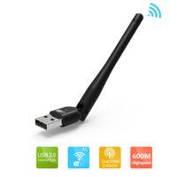 Wholesale Wireless Adapter Wifi Nano - Wholesale- Wavlink Nano Dual Band Wireless AC600 USB Adapter Max Speed to 600Mbps WIFI Dongle 5dBi Antennas Ethernet Network LAN Card Black