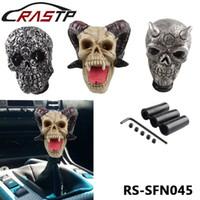 Wholesale gear shift knob skull for sale - Group buy RASTP Personalized Car Shift Knob Human Carved Skull Head Car Gear Stick Shifter Knob LS SFN045