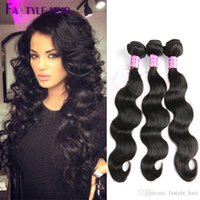 Wholesale High Quality Remy Hair Wholesalers - Fastyle Wholesale Indian Body Wave Brazilian Peruvian Malaysian Mink Virgin Human Hair Bundles 4pc lot Double Machine Weft High Quality