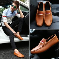 Wholesale Soft Sole Casual Leather Shoes - 2017 New Model Casual PU Leather Moccasin-gommino Fashion Rubber Sole Driving Flat Shoe Soft Doug Loafers Men Shoe YonDream-479