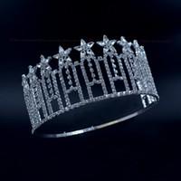 ingrosso stelle dei capelli accessori-Pageant Crown Stars Miss Beauty Contest Alta Quanlity Strass Diademi Accessori per capelli da sposa Fascia regolabile mo230