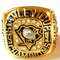 Wholesale Rings For Men Opal - 1991 Pittsburgh Penguins Championship Ring Size 11 For Men Sport Ring