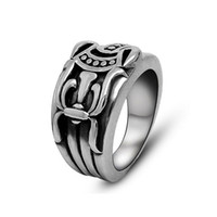 Wholesale Silver Sword Ring - Men's vintage sword pattern stainless steel rings personality fashion titanium steel metal mixed rings jewelry accessories