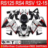 Wholesale Rs125 Aprilia Fairing - Injection For Aprilia RS4 RSV125 RS125 12 13 14 15 RS125R 12-15 RS-125 Silver black 2NO25 RS125RR RSV 125 RS 125 2012 2013 2014 2015 Fairing