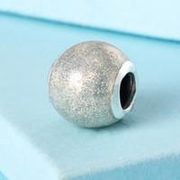 Wholesale Enamel Glitter - Glitter Ball Charms with Silvery Glitter Enamel fit charm beads 925 sterling silver bracelets DIY gift fine jewelry BE488