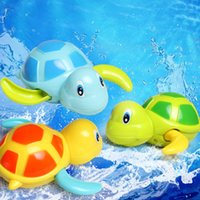 Wholesale Little Turtle Toys - Wholesale- Little Turtle Bath Toys Cute Wind Up Turtle Baby Water Of Swimming Pool Pets Toys for Children bath toy classic toys