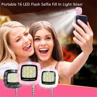 Wholesale Wholesale Photography Lenses - Portable 16 LED Flash Selfie Fill In Light Iblazr Selfie Lens Sync Shutter For Camera Phone Multiple Photography