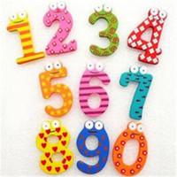ingrosso adesivo di numerazione-Creativo legno magnete frigo adesivo giocattolo cartone animato bambino frigorifero magnete numero operazione simbolo regalo di moda dhl gratuito