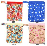 Wholesale Wet Dry Wholesale Reusable - Baby Diaper Bags Cartoon Animal Owl Printed Double Zippered Wet Dry Bag Waterproof Wet Cloth Diaper Backpack Reusable Diaper Cover WetBag