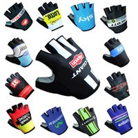 Unisex cas cycling - 2017 New quick step cas sky lotto giant mov Cycling Gloves racing MTB TEAM Bike bicycles gloves with Gel pads fast shipping