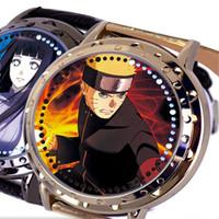 Wholesale Naruto Led Watch - Naruto Anime Shiny LED Touch Screen Digital Wrist Watches Waterproof Wristwatch For Fashion Men Women Birthday Christmas Jewelry Gifts