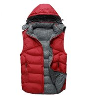 Wholesale duck vest xl - Fall-Factory direct sales 90% white duck down Coat Men NF down Vest collar men's cultivate one's morality Down sleeveless jacket