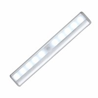 Wholesale Stick Lights Wholesale - 10 LED Wireless Motion Sensing Light Bar with Magnetic Strip Stick-on Anywhere Battery Operated Night Lamp Sensor lights