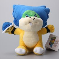 Wholesale Ludwig Blue - Hot Sale 16cm Super Mario Ludwig With Blue Turtle Shell Koopa Cute Koopalings Plush Toys Soft Dolls