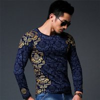 Wholesale Yellow Long Sleeve Shirt Xs - Wholesale- New Autumn winter tops Medusa T-shirt men T Shirt Men's long Sleeve T Shirt slim fit men shirt fashion casual breath