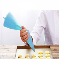 Wholesale Silicone Decorating Tools - Striper Silicone Pastry Bag Cake Decorating Tools Eco-Friendly 31cm re-useable Silicone Cake Tools Blue Pink 2 Color Choose