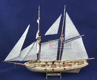 Wholesale Boat Wooden Puzzle - Wholesale-Free shipping Assembly puzzle Model kits Classic wooden sailing boat model Halcon1840 scale wooden model