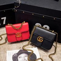 Wholesale Evening Clutch Bags Womens - Fashion Womens design Chain Detail Cross Body Bag Ladies Shoulder bag PU clutch bag luxury evening bags