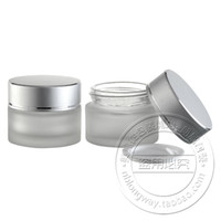 Wholesale Wholesale Frost Container - Free shipping 50g frost cream glass bottle, cream jar ,glass containers 10pc lot