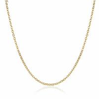 colares de latão banhado venda por atacado-Alta Qualidade 18 K Banhado A Ouro Cadeias Rolo Colares Moda 1.5 MM 18 polegada Pingente de Bronze Colar de Jóias finas para as mulheres meninas