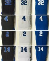Wholesale Cooking Logos - 32 Christian Laettne Basketball Jerseys 2017 Stitched 3 Grayson Allen 4 JJ Redick 2 Cook 14 Ingram Blue White Shirts Embroidery logos