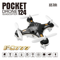 Wholesale Mini One Key - HOT FQ777-124 Pocket Drone 4CH 6Axis Gyro Quadcopter Drones With Switchable Controller One Key To Return RTF UAV RC Helicopter Mini Drones