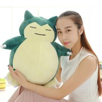 Wholesale ship center - Hot Sale Cute Kids Dolls Jumbo Laugh Snorlax Center Kabigon Toys Doll Plush Figure Birthday Gifts 12inch Free Shipping