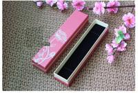 cajas de pulsera larga al por mayor-Calidad Dos capas de papel pulseras cajas para joyería Caja de regalo de plata caliente de la vendimia para la pulsera 22 * 4.8 cm forma larga embalaje BX-11