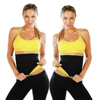 Wholesale Body Wrap Slim Shaper - Hot Shapers Slimming Waist Training Belt Women Shapers Sauna Waist Slimming Body Shaper Tummy Trimmer Shaper Wrap Waist Cinchers BAB38