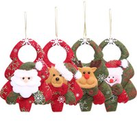 Wholesale Stuffed Bear Ornaments - Christmas Decoration Santa Claus Elk Bear Toys For Home Christmas Tree Party Props Xmas Super Cute Hanging Ornament
