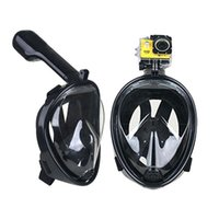 Wholesale Purge Snorkel - Wholesale Alien Style Full Face Diving Masks Anti Fog Underwater Swimming scuba purge diving Adult Snorkel Set