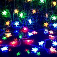 Wholesale Floral Light Fixtures - 5M 28LED Pentagram String Fairy Cool Light Christmas Wedding Party Decoration Xmas led holiday lighting fairy lights fixtures
