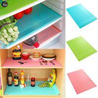 Wholesale waterproof kitchen mat - Refrigerator Freezer Mat 45*30CM Fridge Anti-fouling Anti Frost Waterproof Pad Kitchen Table Wardrobe Drawer Mats 4pcs lot OOA2987