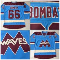 Wholesale Ice Wave - #66 Gordon Bombay Hockey Jerseys VERY RARE NO RESERVE Gordon Bombay Gunner Stahl Mighty Ducks Waves Hockey Jersey