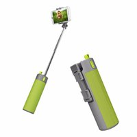 Wholesale Stick Power Bank - Foldable Selfie Stick 2000mah power bank bluetooth speaker Handheld Extendable Monopod Non-slip Handle Compatible with phone PC : 85-1011