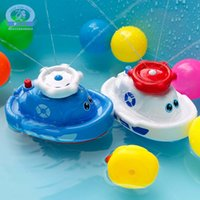 New Возьмите ванну игрушки baby Play water electric Spray water boat Мальчики и девочки ванная Ferry