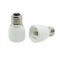 галогеновый переходник cfl оптовых-E27 - G24 Гнездо базы LED Галогенная лампа CFL Лампа Адаптер Конвертер Высококачественный огнеупорный материал