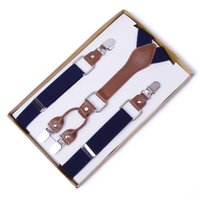 Wholesale Suspenders High End - Wholesale-2016 New Arrival Men's Business Casual Trousers Strap 4 Clip Suspenders High-end Business Trousers Elastic Tirantes For Male