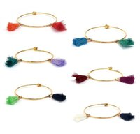 Wholesale New Factory Design - factory wholesale custom top quality thin gold bangle with tassel, new fashion bracelet designs for women cheap jewelry