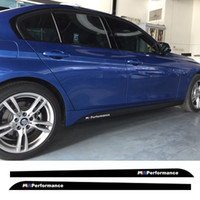 Wholesale Decoration Series - Styling M performance Side Skirt Stripe Sticker Body Decal for BMW 3 5 Series F30 320 335 F10 M5 525i 520i 528i 535i