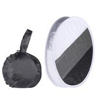 Wholesale pentax camera flash - 12in 31cm Flash Disc Portable Round Speedlight Diffuser Softbox & Grey   White   Black Card Board White Balance on DSLR Camera