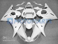 Barato Kit De Carenagem Completo Yamaha R6-Kit de carenagem para YAMAHA 2003 YZF-R6 03 YZF R6 2003 YZFR6 R6 03 2003 Hot-selling Cartilhas brancas completas set + 7gifts