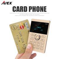Wholesale Camera Radiation - New arrival Ultra Thin AIEK AEKU E1 Mini Cell Card Phone Student unlocked Mobile Phone Pocket Phone Low Radiation Multi Language