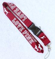 logo de marca movil al por mayor-NUEVA marca de ropa con logo en el cuello Lanyard Strap ID Card Badge Mobile Holder, Regalo LP1