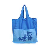 Wholesale Nylon Grocery Totes - Wholesale- 210D Nylon Blue Large Grocery Totes Promotional Shopping Bags with Two Extra Front Pockets Available for Custom Bags