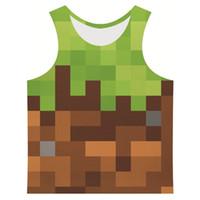 Wholesale Wholesale Mosaic Clothes - Wholesale- Joyonly 2017 Summer Men's 3D Printed Vest Galaxy Maple palm Mosaic Coconut Tree Tree Stlye Clothing Print Tank Tops Plus Size