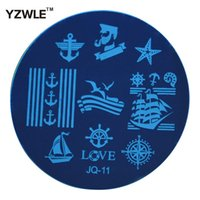 Wholesale Pcs Images - Wholesale-YZWLE 1 Pcs Stainless Steel Plate Image Stamp Stamping Plates DIY Manicure Template Nail Polish Tools (JQ-11)
