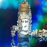 Wholesale Wholesale Carousel Necklace - 12pcs A Bit of Magic Necklace with a Carousel Charm Bert and Mary Poppins glass bottle necklace in silver