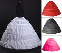 vestidos de bola de envío rápido al por mayor-2018 envío rápido Mix estilo boda nupcial enaguas para sirena vestido vestido de bola vestido Underskirt Hoop falda accesorios de novia