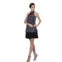 d4de131ca84 black halter cocktail dresses above knee NZ - Eren Jossie Fashion Style  Ladies Party Dress Halter